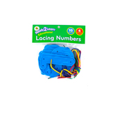 Center Enterprises, Lacing Numbers, Assorted, 4 x 4 Inches,14 Pieces