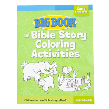 Big Book of Bible Story Coloring Activities by David C Cook, Paperback, 240 Pages, Grades PreK-K
