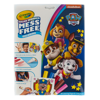 Crayola, Color Wonder Mess Free Paw Patrol Coloring Pad and Markers, Ages 3 and up, 23 Pieces