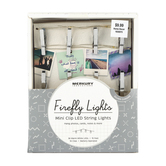 Merkury Innovations, Chrome Firefly Lights Mini Clip LED String Lights, Silver, 15 feet