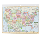 Kappa Map Group, United States & World Map Binder Insert, 8 1/2 x 11 inches