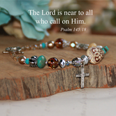 Collectables America, The Lord is Near, Psalm 145:18, Beaded Bracelet