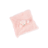 Stephan Baby, Sherpa Plush Cuddle Bud Bear Blankie, Pink, 18 inches