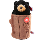 Aurora World, Pop-Up Black Bear Hand Puppet, 11 inches, Plush