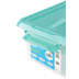 Kis, Latch Mate Storage Container with Tray, Clear with Seafoam Green, 16 x 11.25 x 6.75 Inches, 3 Pieces
