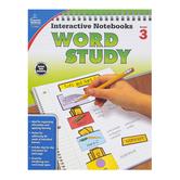 Carson-Dellosa, Interactive Notebooks Word Study Resource Book, Reproducible Paperback, Grade 3
