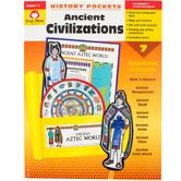 Evan-Moor, History Pockets Ancient Civilizations Teacher Reproducible, Paperback, 96 Pages, Grades 1-3