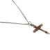 H.J. Sherman, Nail Cross Pendant Necklace, Pewter, 18 inches