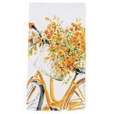 Kay Dee Designs, Sweet Home Yellow Bike Tea Towel, Cotton, White and Yellow, 26 x 16 inches