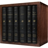 ESV Reader's Bible Box Set, Cowide Over Board, Black, 6 Volumes in Walnut Wood Slip Case