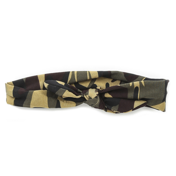 Fashion Tid Bits, Camouflage Headband with Knot, One Size Fits Most