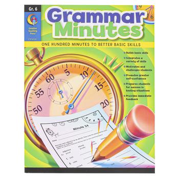 Creative Teaching Press, Grammar Minutes Workbook, Reproducible Paperback, 112 Pages, Grade 6
