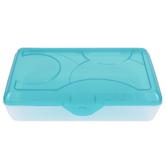 Sterilite, Supply Box, Molokai Blue Tint & Clear, 11 1/2 x 7 3/4 x 3 inches