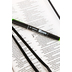 NLT Premium Slimline Reference Bible, Large Print, TuTone, Black