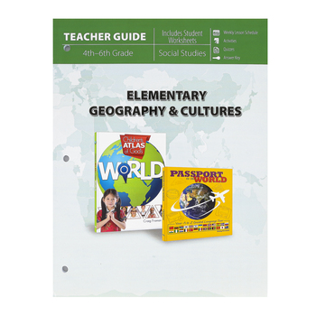 Master Books, Elementary Geography and Cultures Teacher Guide, Paperback, Reproducible, Grades 4-6