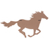 Horse Silhouette with Forest Design Wall Decor, MDF, Brown, 17 x 31 1/2 x 1/2 inches