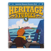 BJU Press, Heritage Studies 4 Student Activities Manual Answer Key, 3rd Edition, Grade 4