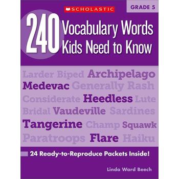 240 Vocabulary Words Kids Need to Know: Grade 5