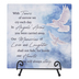 Carson Home Accents, In Angels Arms Tabletop Plaque, Sky Blue, 6 x 6 Inches