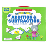 Scholastic, Addition and Subtraction Learning Puzzles, 20 Puzzles, Grades PK-1