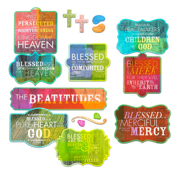 Renewing Minds, Beatitudes Bulletin Board Set, 32 Pieces
