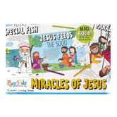 Playside Creations, Miracles of Jesus Jumbo Coloring Pages, 12 3/4 x 19 1/2 Inches, 18 Sheets