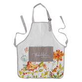 Christian Art Gifts, Colossians 3:15 Be Thankful Apron, Cotton, Taupe, Adult Size