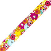 Schoolgirl Style, Simply Stylish Tropical Floral Straight Borders, Trimmer, 36 Feet