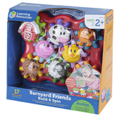 Learning Resources, Barnyard Friends Build & Spin, Multi-Colored, Ages 2 Years and Older, 17 Pieces