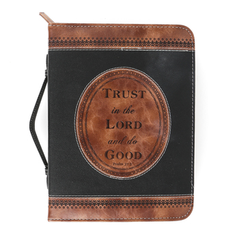 Divinity Boutique, Psalm 37:3 Trust In The Lord Bible Cover, Black & Brown, Multiple Sizes Available
