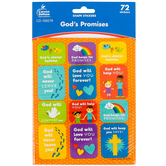 Carson-Dellosa, God's Promises Stickers, Classroom Pack, Multi-Colored, 72 Stickers