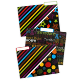 Chalk Talk Collection, File Folders, 3 Multi-Colored Assorted Designs, 12 Count