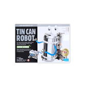 4M, Green Science Tin Can Robot Kit, 7 x 5 Inches, 52 Pieces, Ages 8 and up