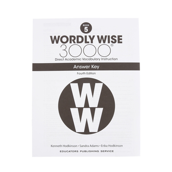 Wordly Wise 3000 4th Edition Answer Key Book 5, Paperback, Grade 5