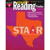 Newmark Learning, STAAR Reading Practice: Grade 4, 8.5 x 11 Inches, Paperback, 144 Pages