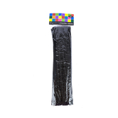Tree House Studio, Chenille Stems, 12 x 1/4 Inches, Black, 50 Count