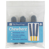 The Pencil Grip, Chewberz Pencil Toppers, Blue, Set of 3