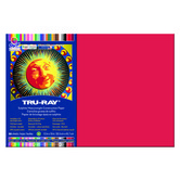 Tru-Ray® Sulphite Construction Paper, 12 x 18 inches, Holiday Red, 50 Sheets