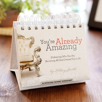 DaySpring, You Are Already Amazing Perpetual Calendar, Paper, 5-1/2 x 5-1/4 x 1-1/4 inches