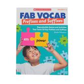 Scholastic, Fab Vocab: Prefixes & Suffixes, Paperback, 112 Pages, Grades 3-5