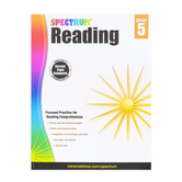 Carson-Dellosa, Spectrum Reading Workbook Grade 5, Paperback, 174 Pages, Ages 10-11