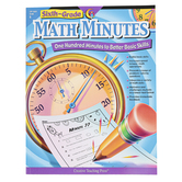 Creative Teaching Press, Math Minutes Workbook, Reproducible Paperback, 112 Pages, Grade 6