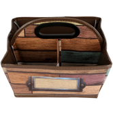 Teacher Created Resources, Reclaimed Wood Storage Caddy, Brown, 9 x 9 x 6 inches