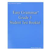 Easy Grammar Grade 3 Student Test Booklet