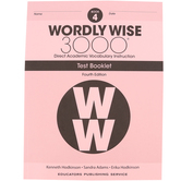 Wordly Wise 3000 4th Edition Test Booklet 4, Paperback, Grade 4