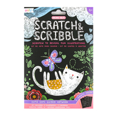 Ooly, Scratch & Scribble Mini Art Kit, Cutie Cats, 4 x 6 Inches, 14 Pieces