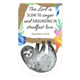 Salt & Light, Numbers 14:18 The Lord Is Slow To Anger Sloth Magnetic Bookmark, 2 1/2 x 3 3/4 inches