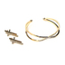 Faithful and Fabulous, Bracelet with Cross Earrings Set, Brass and Glass, Gold
