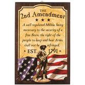 Second Amendment Wall Plaque, MDF Wood, 12 x 18 x 1 inches