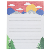 Renewing Minds, Mountain Scene Rectangle Notepad, 8.50 x 11 Inches, Primary Colors, 50 Sheets